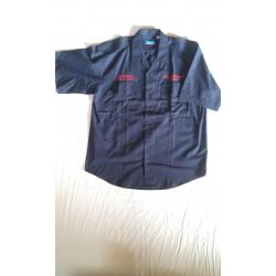 Рубашка-поло пожарная Англия, Синяя, б/у.