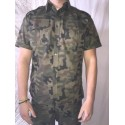 Рубашка Польша, Рипстоп, короткий рукав, Woodland.