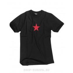Футболка Mil-Tec Red Star, Чёрная.