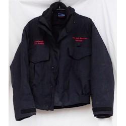 Куртка ветрозащитная с утеплителем пожарной охраны Англия, Тёмно-Синяя, б/у.