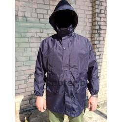 Куртка непромокаемая мембраная Военной академии Saint-Cyr Франция, Тёмно-синяя, б/у.