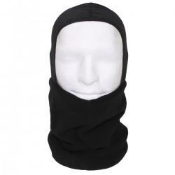 Бафф-шарф с капюшоном. Флиссовый. Чёрный.