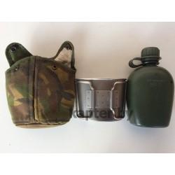 Фляга армейская в чехле DPM  MOLLE со стаканом Голландия, 0.75л, б/у.