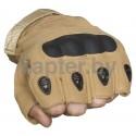 Тактические кевларовые  беспалые перчатки  Half-Gloves. хаки-песок.