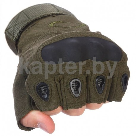 Тактические кевларовые  беспалые перчатки  Half-Gloves. Олива.