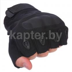 Тактические кевларовые  беспалые перчатки  Half-Gloves. Чёрные.