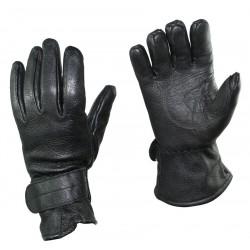 Перчатки кожаные Австрия, на липучке, Чёрные.