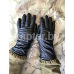 Перчатки кожаные с застежками, утеплённые Голландия, Чёрные.