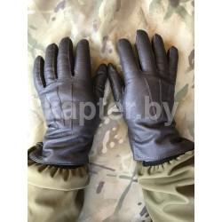 Перчатки кожаные утеплённые Голландия, Коричневые.