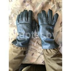 Перчатки кожаные утеплённые Голландия, Тёмно-Зелёные.
