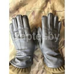 Перчатки кожаные утеплённые Голландия, Антрацит.