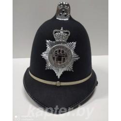 Головной убор (котелок, каска, шлем) полицейского Англия, Бобби.