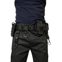 Тактический пояс (варбелт) с подсумками на фастексе Cobra. Чёрный.