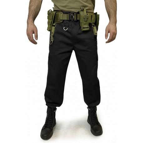 Тактический пояс (варбелт) с подсумками на фастексе Cobra. Олива.