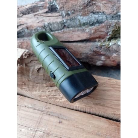 Фонарь Тактический спецназа Dynamo Solar Tac Flashlight Black