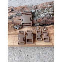 Набор фурнитуры: fastex и пряжек Mil-Tec из 9 предметов. Coyote.