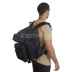 Рюкзак тактический Вооруженных Сил 3-в-1, Чёрный.